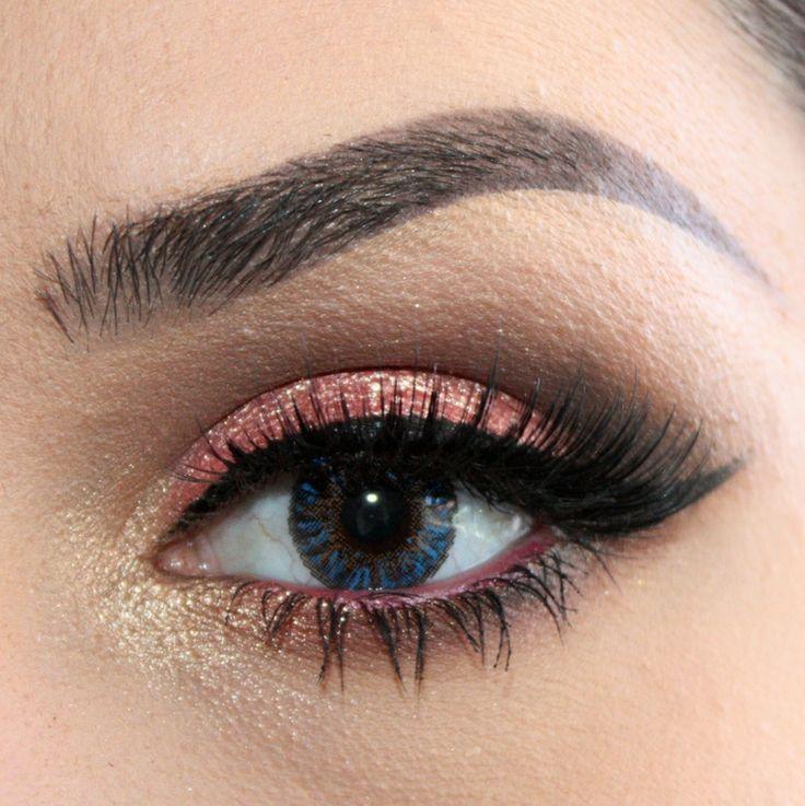 zart-augen-make-up-rosa gold kontaktlinse blau