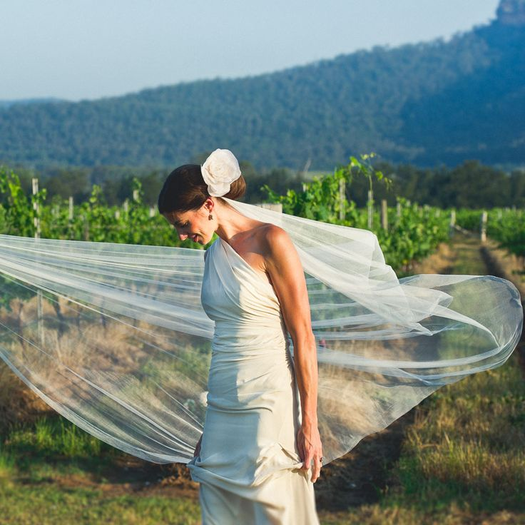 In the afternoon sun. Bride shot by Match + Feather at Margan Wine, Hunter Valley // Match + Feather