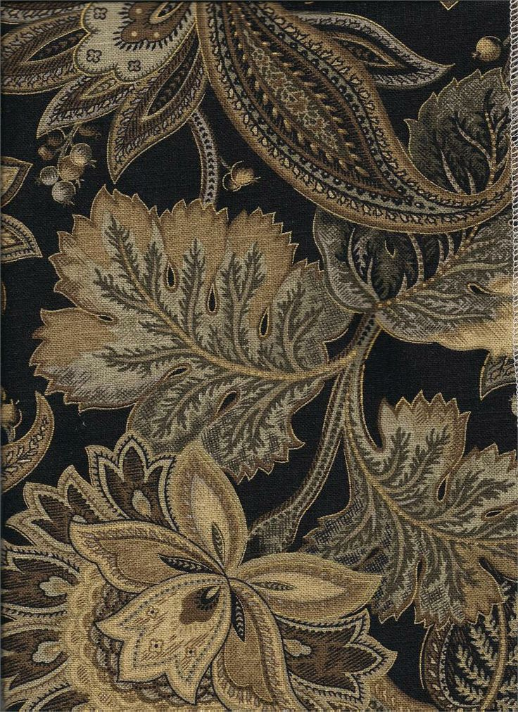 Valdosta In Blackbird Jacobean Floral Print On Linen