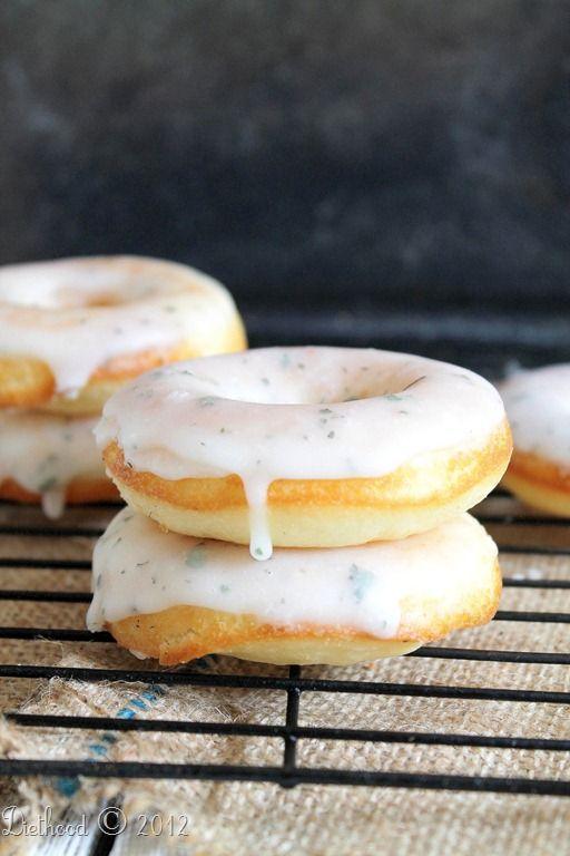 {Mojito Doughnuts} via diethood.com: Desserts, Recipe, Food, Glazed Mojito, Mojito Doughnuts, Lime Glaze, B Zy Cupcakes Sweets Drinks