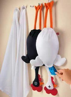 VER PARA CREAR.... TIPS, BELLEZA, TUTORIALES Y MAS¡: Moldes del pollito porta bolsas de plástico!