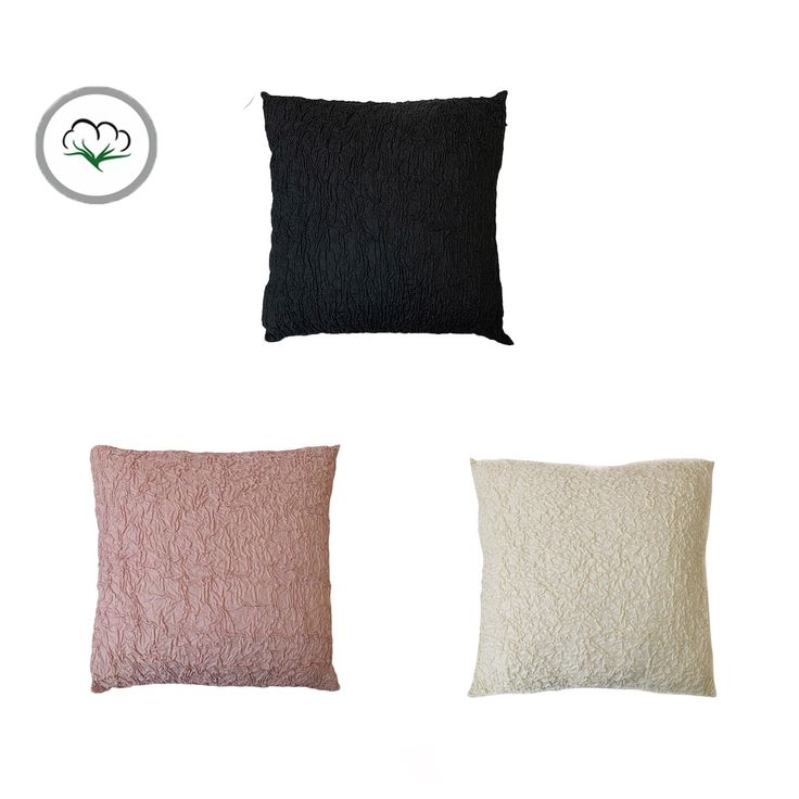 Cotton Rococo Shirred Square Filled Cushion 43 x 43 cm by Accessorize