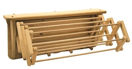 Expandable Wooden Wall Clothes Drying Rack