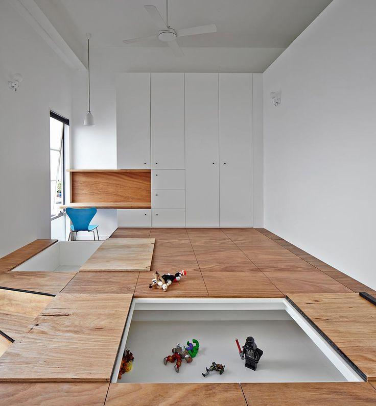 110 best raised floor storage images on pinterest for Raised floor house