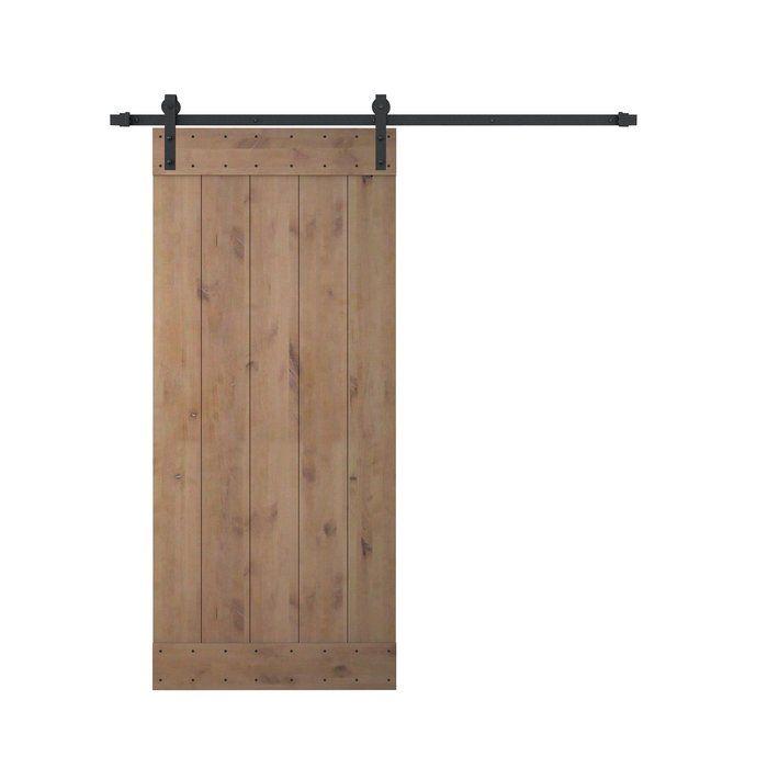 Flush Paneled Wood Primed Barn Door With Installation Hardware Kit Barn Doors Sliding Sliding Door Hardware Barn Style Sliding Doors
