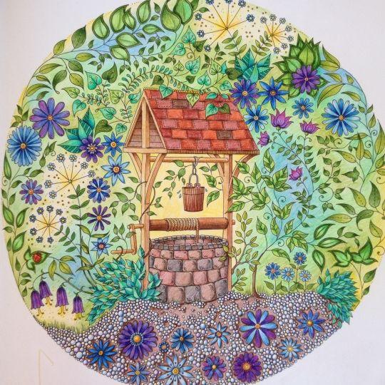 Coloring Books Colouring Secret Gardens Book Art Johanna Basford Mandala Water Well Vintage Altered