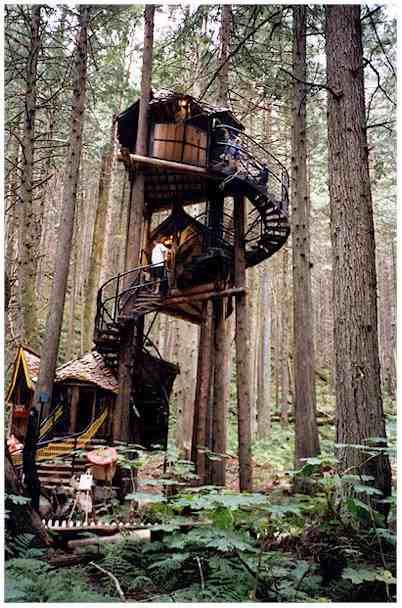 The Enchanted Forest in British Columbia, Canada--I must go here.  And yes, I know this isn't in Europe