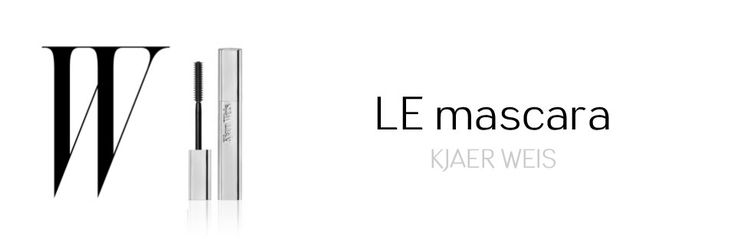 Kjaer Weis signe le meilleur #mascara bio et naturel #kjaerweis