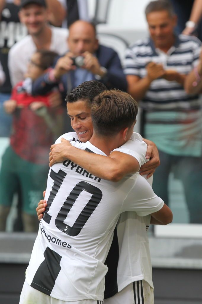 Cristiano Ronaldo Celebrates With Paulo Dybala After Scoring His