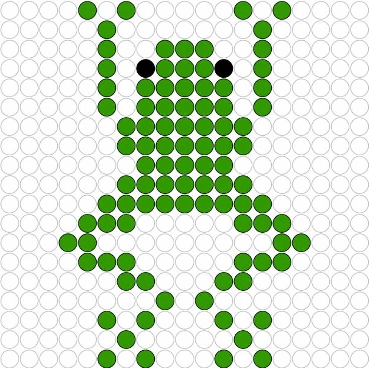 Frog  perler bead pattern