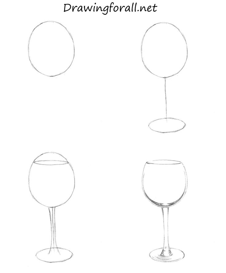 How to Draw a Wine Glass: http://www.drawingforall.net/how-to-draw-a-wine-glass/