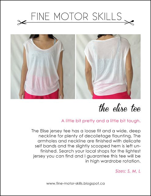 THE ELISE TEE WITH PATTERN- by fine motor skills