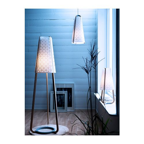 TORNA Floor lamp IKEA Gives a diffused light; good for spreading light into larger areas of a room. $199