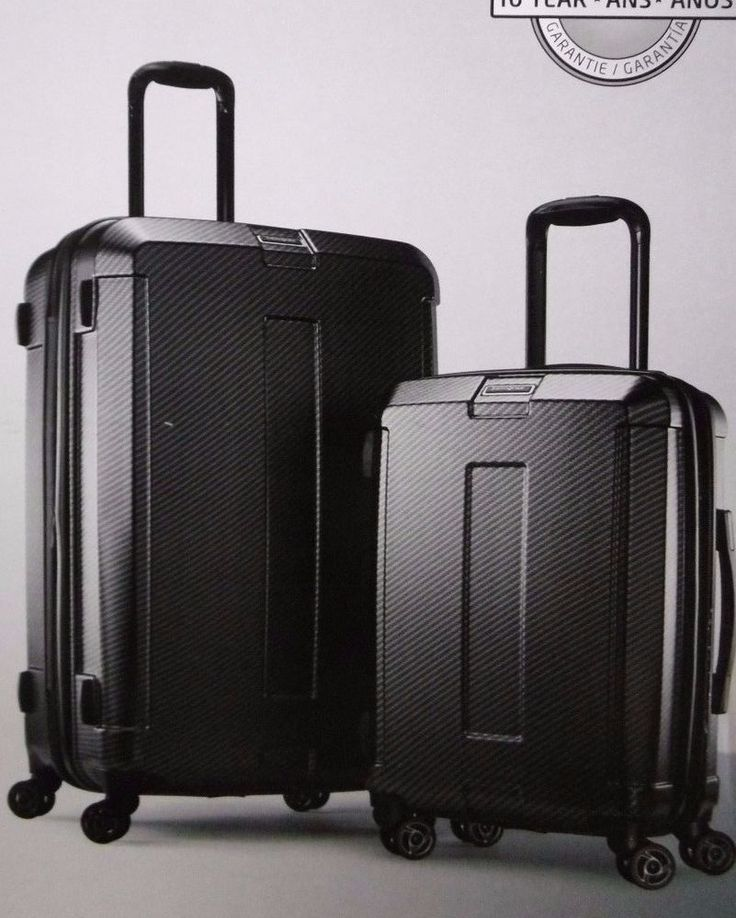 SAMSONITE CARBON ELITE 2 PIECE HARD SIDE SPINNER LUGGAGE SET MOBIL DURABLE…