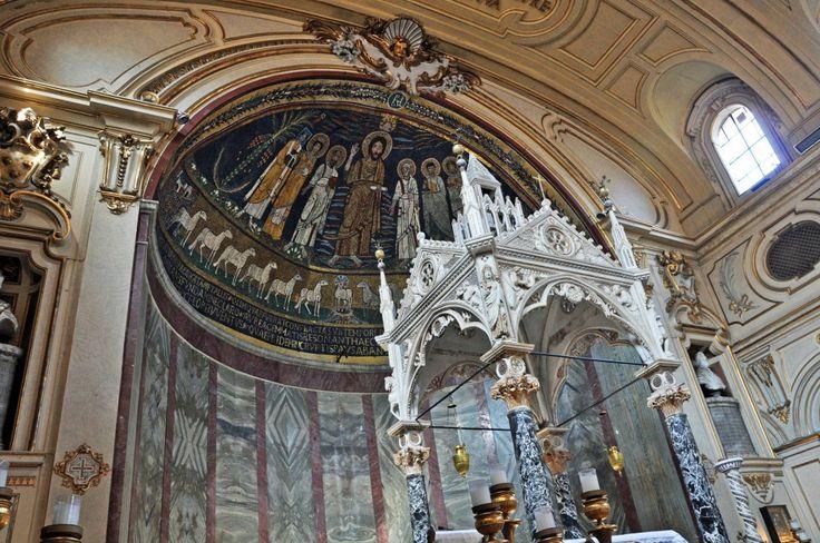 Byzantine mosaics in Rome, Italy