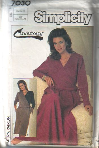 Simplicity 7030, sizes 6 to 10, is cut, connoisseur