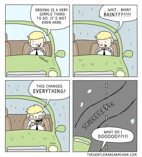 driving in the rain meme - Google Search