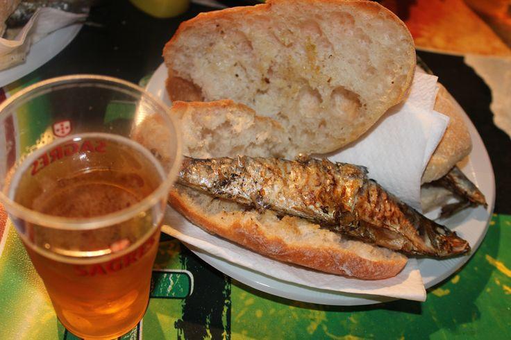 Szardínia - sör tipikus Portugál ünnepi(Festa)«fogás»