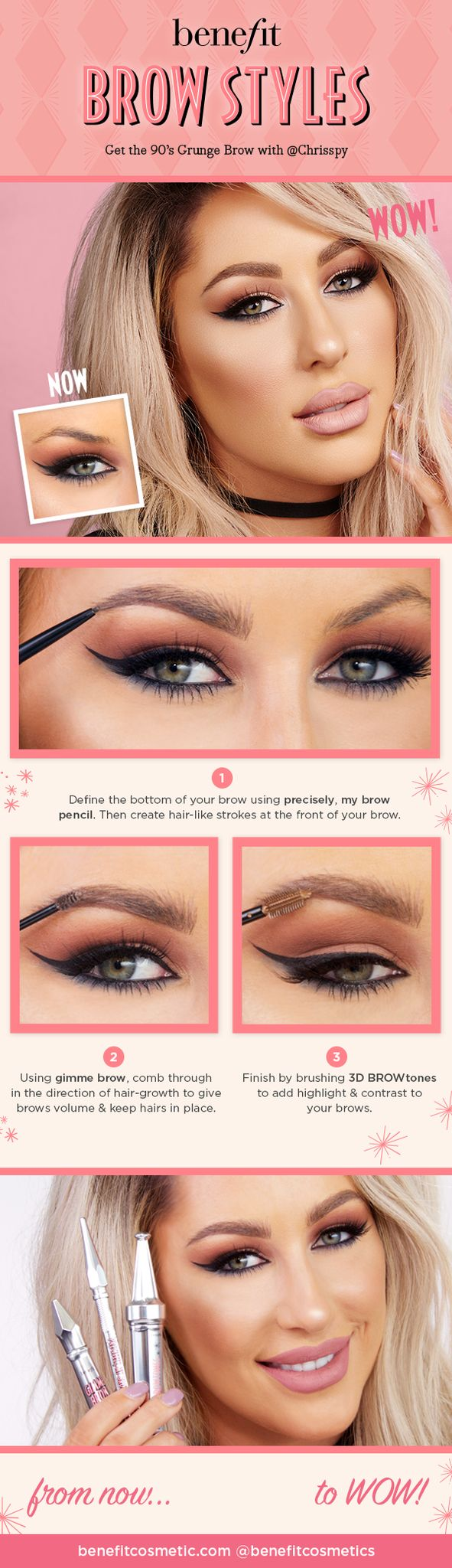 Check out this beautiful how-to look from @Chrisspy using Benefit Cosmetics brow products. #Sephora #HowTo