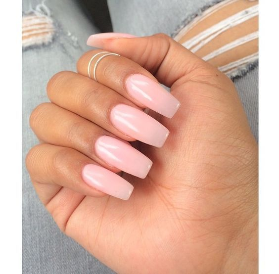 Easy And Quick Light Pink Acrylic Nail Designs Nails C