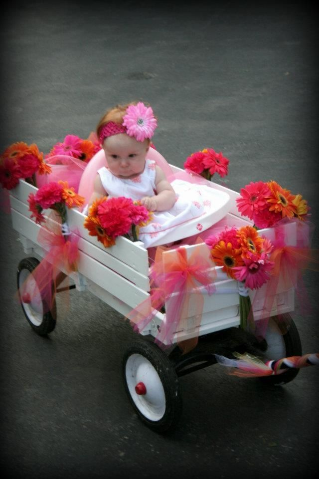 Creative Ring-Bearer and Flower Girl Ideas - PureWow |Flower Girl Wagon Wedding Party