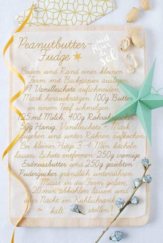 Die liebe Anke vom Blog fantastisch verrät uns heute im Adventskalender bei monsieurmuffin ihr Rezept für Peanutbutter-Fudge