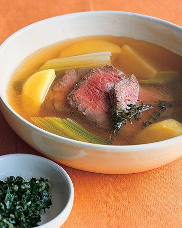 Poached Beef with Leeks | Recipe