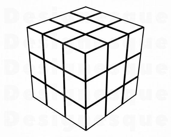 Rubik S Cube 2 Svg Rubik S Cube Svg Rubik S Etsy In 2021 Rubiks Cube Cube Clip Art