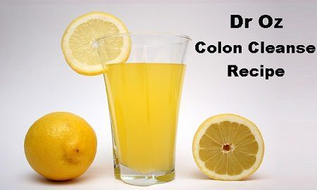 Dr Oz Colon Cleanse Recipe Natural Detox Diet Plan