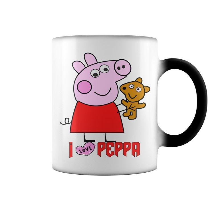 Papa pig kids coffee mug cartoon pig and bear dad daddy beer mug - Tshirt