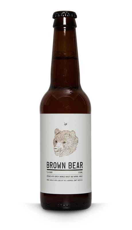 Our Brown Bear Beer – brewed with birched smoked wheat and Wirral honey.