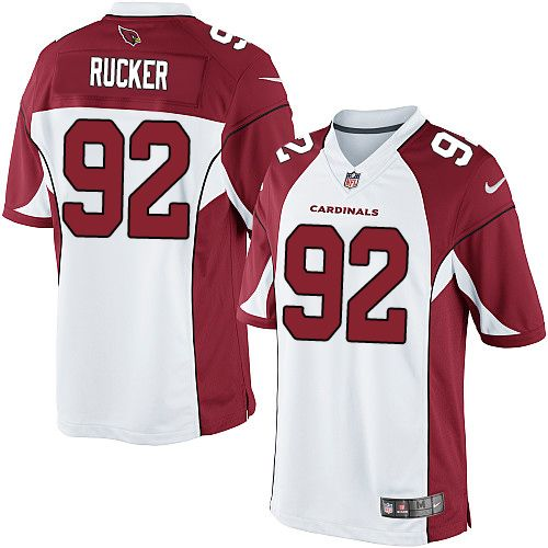 Nike Limited Frostee Rucker White Men's Jersey - Arizona Cardinals #92 NFL Road