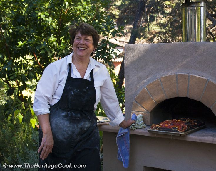 Roman Pizza in Calif on Festive Friday at The Heritage Cook!