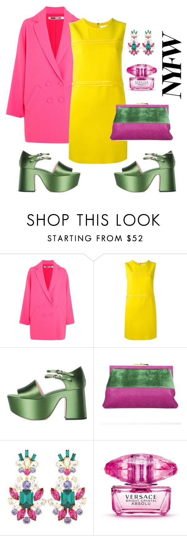 """""""Color Blocking"""" by sophier on Polyvore featuring McQ by Alexander McQueen, Victoria, Victoria Beckham, Rochas, Roberta Di Camerino, Dolce&Gabbana and Versace"""
