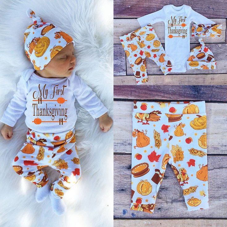 Thanksgiving Infant Baby Boy Girl Outfits Clothes Romper Pants Leggings 3PCS Set in Clothing, Shoes & Accessories, Baby & Toddler Clothing, Boys' Clothing (Newborn-5T)   eBay