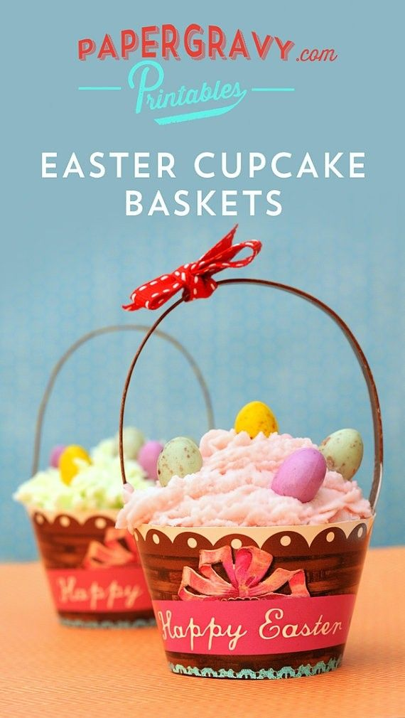 16 best easter basket cupcakes images on pinterest easter printable easter cupcake basket diy decorations cupcake basket easter gift for kidseaster negle Images