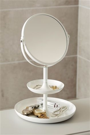 Buy White 2 Tier Vanity Mirror from the Next UK online shop