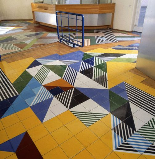 Gio Ponti, flooring design of publishing house.