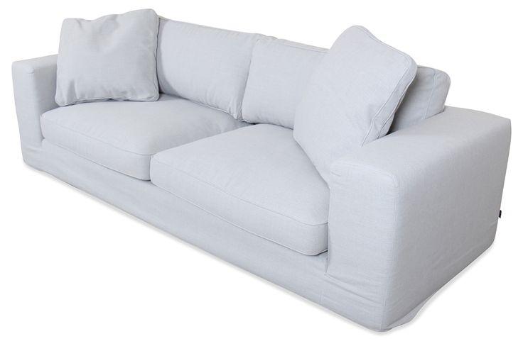 Spin Möbel 3er-Sofa Season - Grau mit Federkern - Einzelsofas | Sofas zum halben Preis