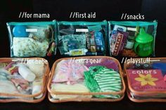 Diaper bag organization idea. WHYYY didn't I think of this?? Wish I could've found this 19 months earlier. Lol