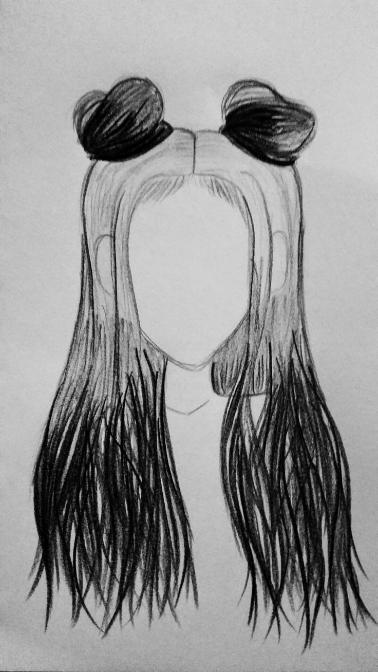 buns hair hairstyle drawing space draw drawings bun easy tutorial hairstyles sketch without grey gray discover