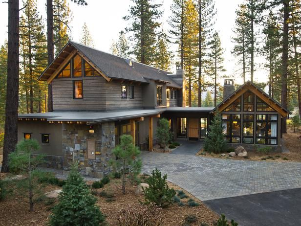 Front entrance HGTV Dream Home 2014, Lake Tahoe, CA
