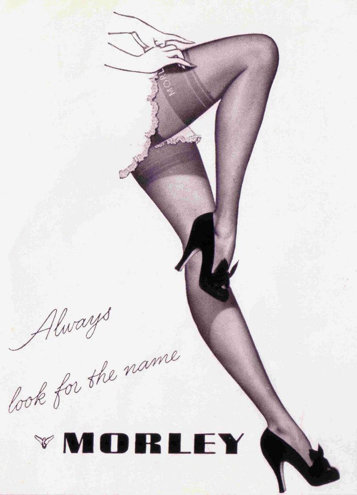 vintage kayser hosiery ads | MORLEY (The Tatler - September 20th, 1950)