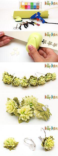 Цветочные бусинки из фоамирана - Hobby-Box.ru