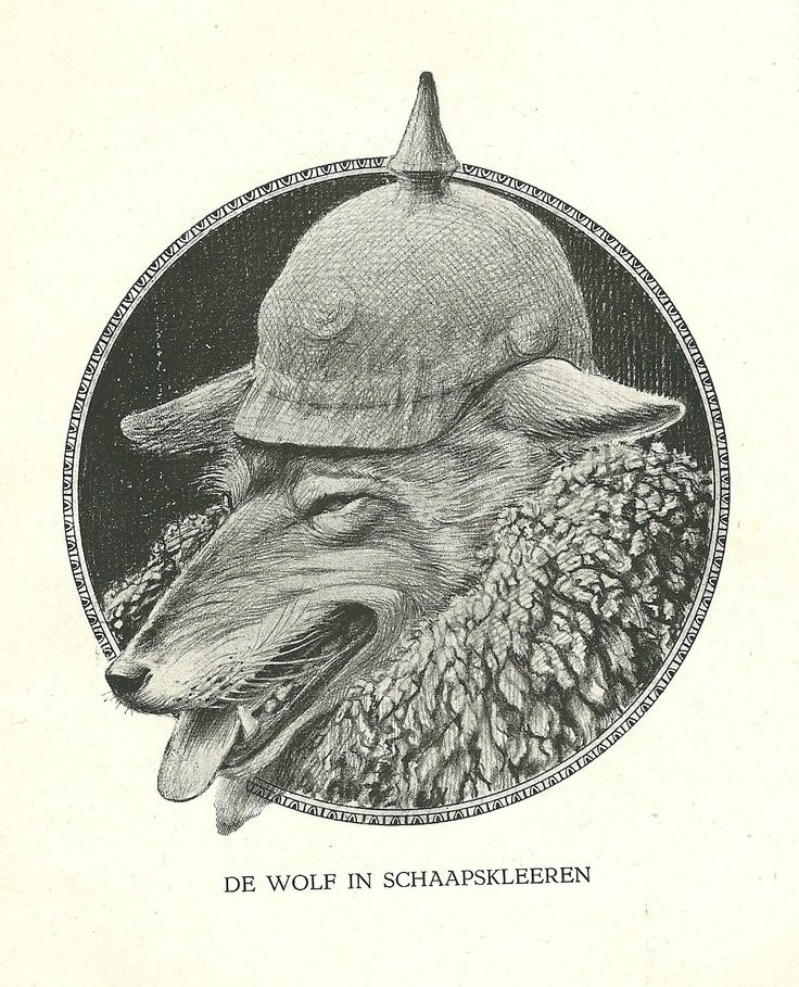 De Wolf in Schaapskleeren by Henri Verstijnen. Europeana 1914-1918, CC BY-SA