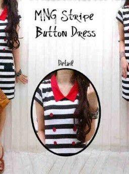 Dress Manggo Stripe Kancing, Ready Stok, Untuk pemesanan dan informasi silahkan hubungi admin di SMS/WhatsApp: 085259804804