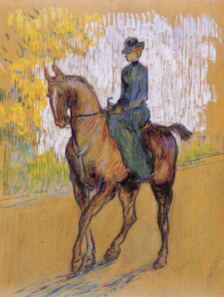 The Athenaeum - TOULOUSE-LAUTREC, Henri de French Post-Impressionist (1864-1901)_Side-Saddle - 1899