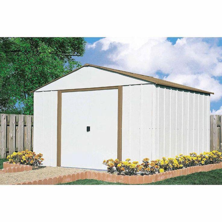 Metal Storage Shed Outdoor Backyard House Garden Tools Mower Bike Garage Steel #ArrowSheds