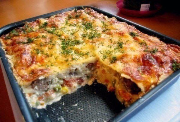 Casserole with chicken and vegetables