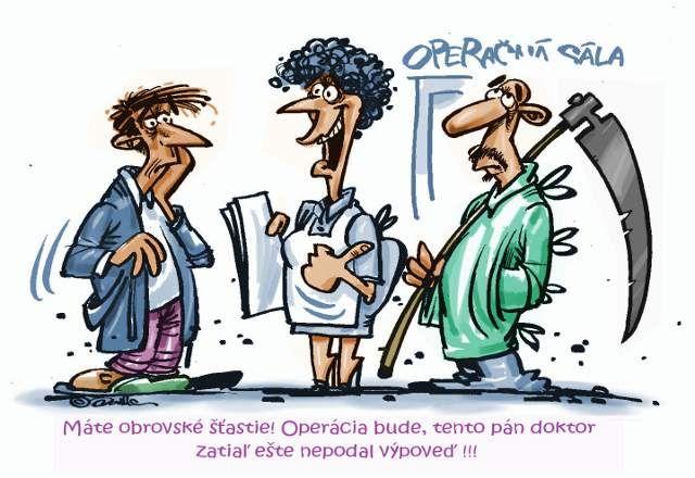 Kresby,ilustrácie,CARTOON,kreslený humor vtipy,veselé obrázky ...: Zdravotníctvo - výpovede lekárov